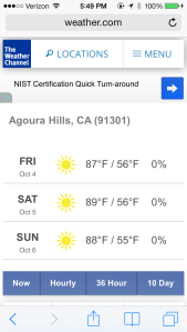 agoura weather 10-5